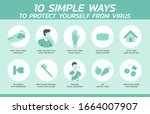 ten simple ways to protect... | Shutterstock .eps vector #1664007907