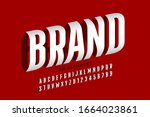 three dimensional style font... | Shutterstock .eps vector #1664023861