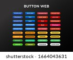 button set for web site or... | Shutterstock .eps vector #1664043631