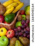 Fruit Basket. Different Fruits...