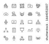set of team work related vector ... | Shutterstock .eps vector #1664052007