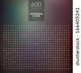 set of 600 universal modern... | Shutterstock .eps vector #166405241