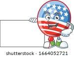 Cute Funny Usa Stripes Balloon...
