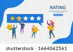 evaluation of customer reviews...   Shutterstock .eps vector #1664062561