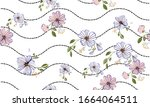 seamless pattern with colorful... | Shutterstock .eps vector #1664064511