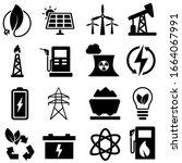 energy icons vector set. power...   Shutterstock .eps vector #1664067991