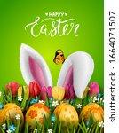 template vector easter card... | Shutterstock .eps vector #1664071507