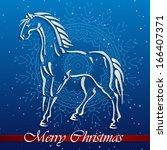 christmas illustration   symbol ... | Shutterstock .eps vector #166407371