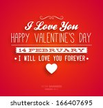 happy valentines day card... | Shutterstock .eps vector #166407695