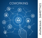 coworking concept  blue...
