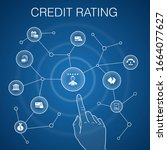 credit rating concept  blue...