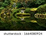 Reflections Of Pagoda In A Pond ...