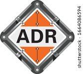 adr sign. marking of transport... | Shutterstock .eps vector #1664086594