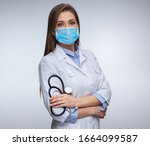 Confident Woman Doctor Wearing...