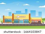 supermarket grocery store...   Shutterstock .eps vector #1664103847