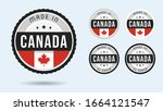 made in canada. set of labels... | Shutterstock .eps vector #1664121547
