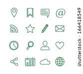 contour social media icons set... | Shutterstock .eps vector #166418549