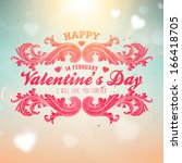 happy valentines day card... | Shutterstock .eps vector #166418705
