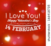 happy valentines day card... | Shutterstock .eps vector #166418735