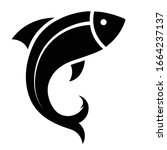 Fish Icon Black Silhouette....
