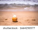 Fresh Young Orange Coconut With ...