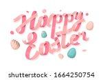 happy easter lettering for...   Shutterstock .eps vector #1664250754