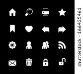 web technology icons set  home...