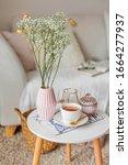 Spring Home Cozy Interior. A...