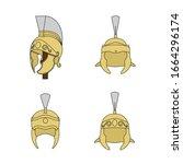 different medieval helmets for... | Shutterstock .eps vector #1664296174