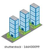 isometric building | Shutterstock .eps vector #166430099