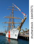 "United States Coast Guard barque ""Eagle""; Festival of Ships; San Diego, California"