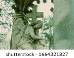 Cementery Angel Looking Down In ...