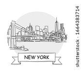 new york  cityscape vector sign....   Shutterstock .eps vector #1664383714