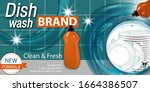 dish washing liquid products... | Shutterstock .eps vector #1664386507