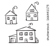 Drawing Houses  Vector Sketch