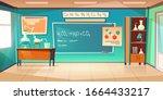 chemistry cabinet  empty... | Shutterstock .eps vector #1664433217