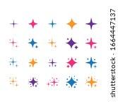 sparkles stars symbol....   Shutterstock .eps vector #1664447137