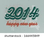 2014 happy new year banner | Shutterstock .eps vector #166445849