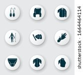 style icons set with pin... | Shutterstock .eps vector #1664464114
