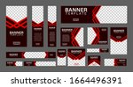 set of creative web banners of... | Shutterstock .eps vector #1664496391