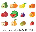 set of the fruit vector with...   Shutterstock .eps vector #1664511631