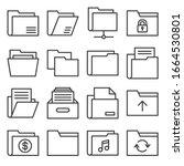 folder icons set on white...   Shutterstock .eps vector #1664530801