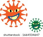 there are two viruses on the... | Shutterstock .eps vector #1664534647