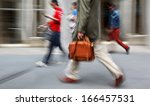 business people at rush hour... | Shutterstock . vector #166457531