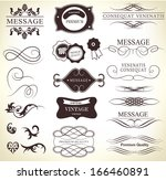 calligraphic design elements | Shutterstock .eps vector #166460891