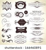 calligraphic design elements | Shutterstock .eps vector #166460891