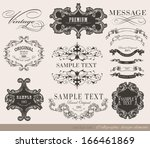 calligraphic design elements... | Shutterstock .eps vector #166461869