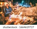 Winter Holiday Ski Resort Woman ...