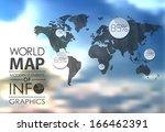 transparent polygonal world map ...   Shutterstock .eps vector #166462391