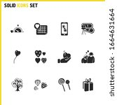 valentine icons set with hearts ...